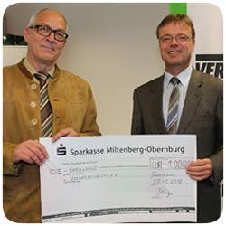 Spendenübergabe an die Verkehrswacht Obernburg